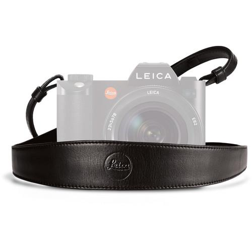 Leica Wide Saddle Leather Camera Strap (Black) 14455