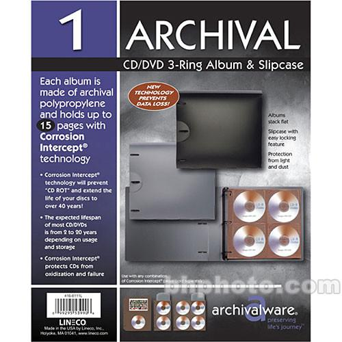 Lineco  Archivalware 8 CD System (Black) 416-8111
