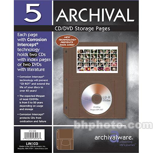 Lineco  CD/DVD Page with Pocket 416-1458