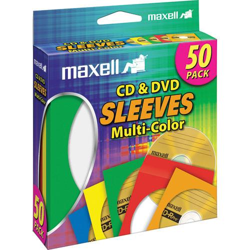 Maxell CD-401 C D/DVD Multi-color Paper Sleeves 190134