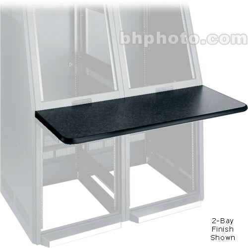 Middle Atlantic Console Work Surface Left (Black) WS3-S18-GBL