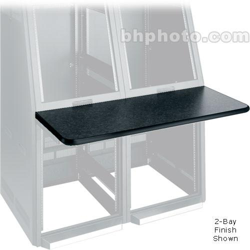 Middle Atlantic Console Work Surface Left (Black) WS4-S18-GBL