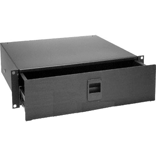Middle Atlantic D3 3-Space Rack Drawer (Black Textured) TD3