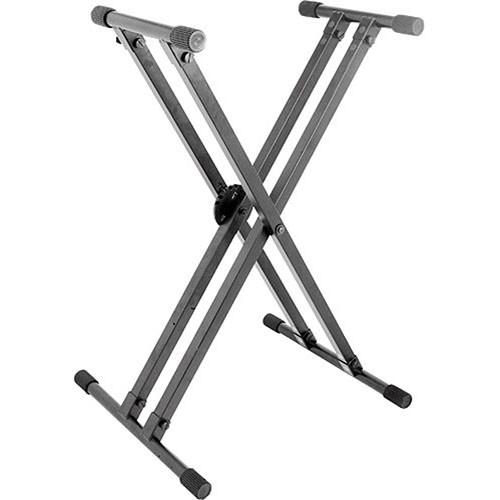 On-Stage KS8291 Ergo-Lok Double-X Lok-Tight Keyboard Stand