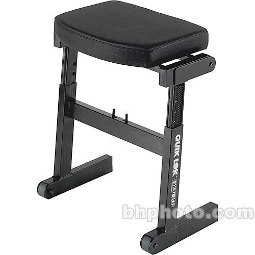 QuikLok BZ-7 Rapid Set-up Height Adjustable Seat BZ-7BK