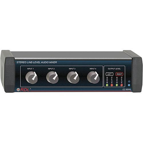 RDL EZ-MX4L Stereo 4-Channel Line-Level Mixer EZ-MX4L
