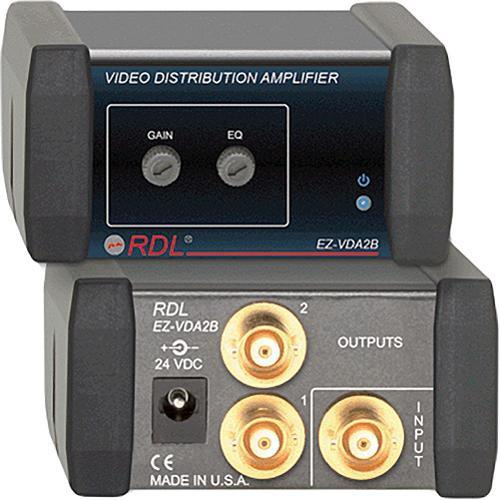 RDL EZ-VDA2B 1x2 Composite Distribution Amplifier (BNC) EZ-VDA2B