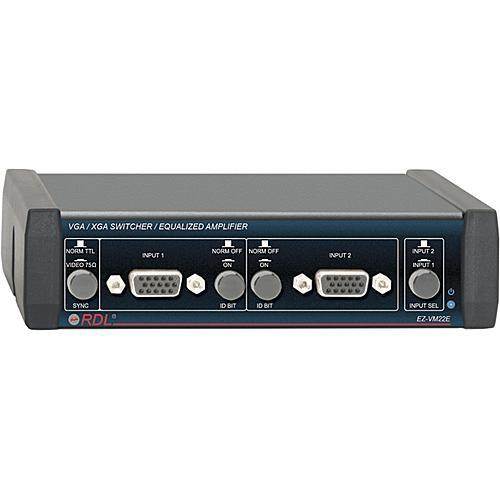 RDL EZ-VM22E VGA/XGA Switcher/Equalized Amplifier (BNC) EZ-VM22E