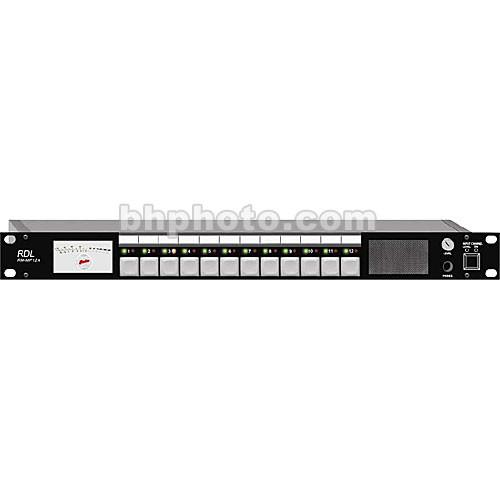 RDL RM-MP12A - 12-Channel Audio Monitor Panel RM-MP12A