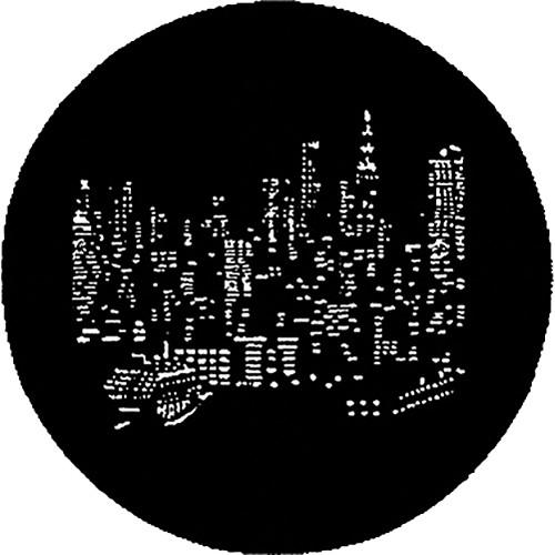 Rosco Steel Gobo #7287 - NYC Skyline - Size A 250772871000