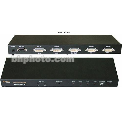 RTcom USA  DS-41R 4:1 DVI Switcher DS-41R