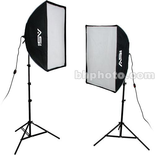 Smith-Victor KSBQ-2000 2,000 Watt Pro SoftBox Light Kit 408080