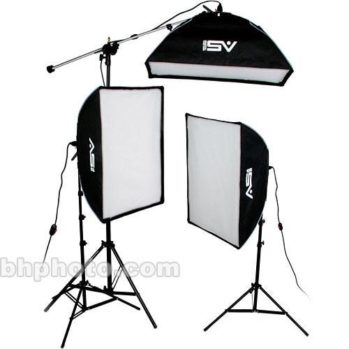Smith-Victor KSBQ-2500 2500 Watt Pro SoftBox Light Kit 408081
