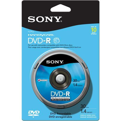 Sony 8cm DVD-R Recordable Disc (Spindle Pack of 10) 10DMR30RS1H