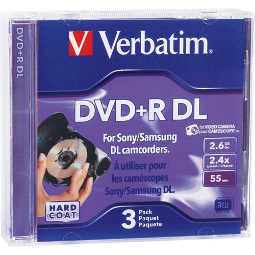 Verbatim 2.6GB 4x DigitalMovie Mini DVD R Discs - 3 Pack 95313
