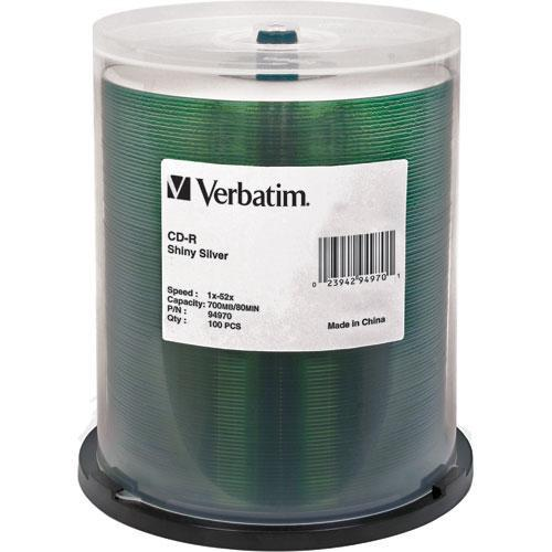 Verbatim CD-R Silver Silk Screen Disc (Spindle Pack of 100)