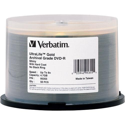 Verbatim DVD-R UltraLife Gold Archival Grade 4.7GB 95355