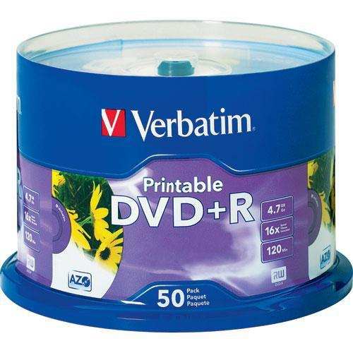 Verbatim DVD R White Inkjet Printable Recordable Disc 95136