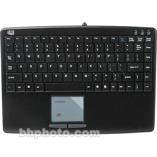 Adesso SlimTouch Mini Keyboard with Built-in TouchPad AKB-410UB