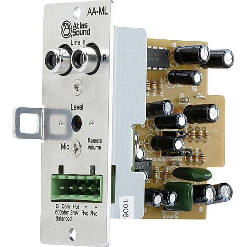 Atlas Sound AA-ML - Mic/Line Input Module with Volume AA-ML