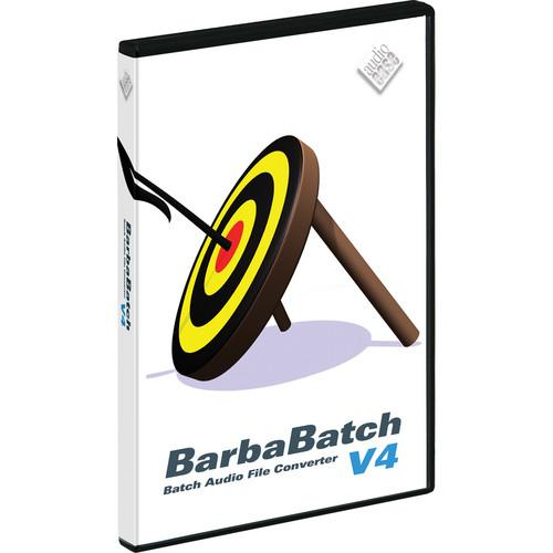 Audio Ease BarbaBatch V4 - Sound File Conversion Software BB