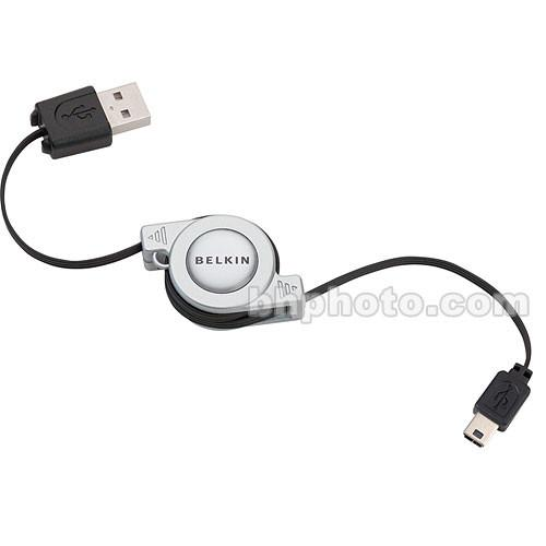 Belkin USB 2.0 5-Pin Mini-B Retractable Cable - F3U138V03-RTC