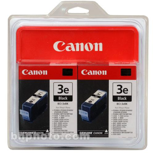 Canon  BCI-3eBk Black Ink Tank Twin Pack 4479A271
