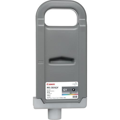Canon LUCIA PFI-701GY Gray Ink Tank (700 ml) 0909B001AA