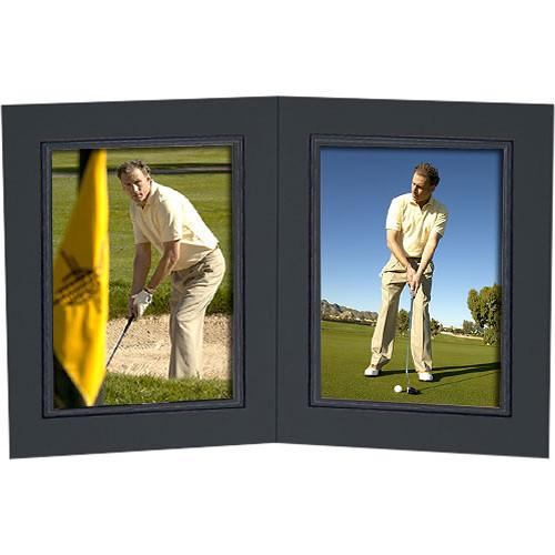 Collector's Gallery Black Double View Portrait Folder PF5202-45