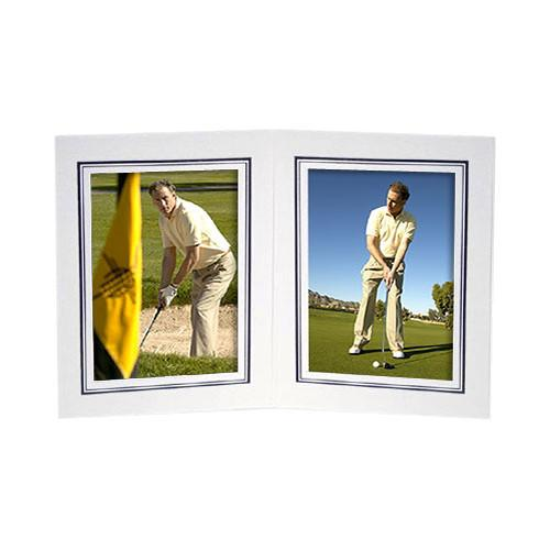 Collector's Gallery White Double View Portrait Folder PF5212-45