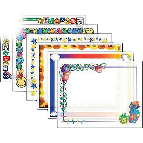 Dry Lam Pizzazz Decorative Laminating Pouches - Assorted D4F210