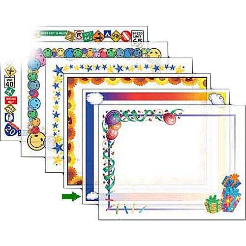 Dry Lam Pizzazz Decorative Laminating Pouches - Rainbow D4F214