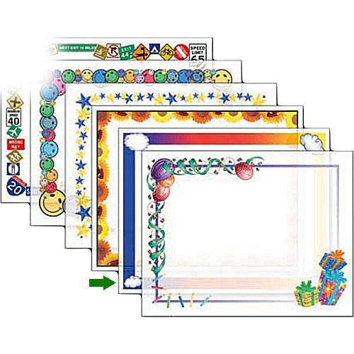 Dry Lam Pizzazz Decorative Laminating Pouches - Rainbow D9F204