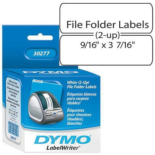 Dymo White 2-Up File Folder Labels (9/16 x 3 7/16