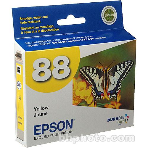Epson 88 Moderate-Capacity Yellow Ink Cartridge T088420