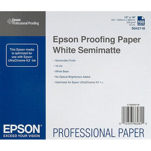 Epson Commercial Proofing Paper White Semimatte - S042118