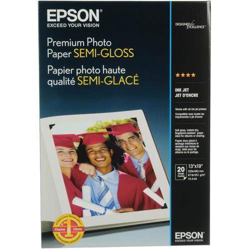 Epson Premium Semi-Gloss Photo Paper - 13x19