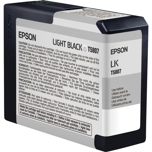 Epson UltraChrome K3 Light Black Ink Cartridge (80 ml) T580700