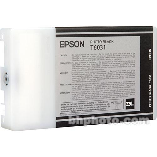 Epson UltraChrome K3 Photo Black Ink Cartridge (220 ml) T603100