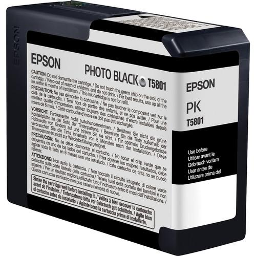 Epson UltraChrome K3 Photo Black Ink Cartridge (80 ml) T580100