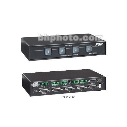 FSR SN-4100A 4x1 VGA Switcher with Stereo Audio SN-4100A