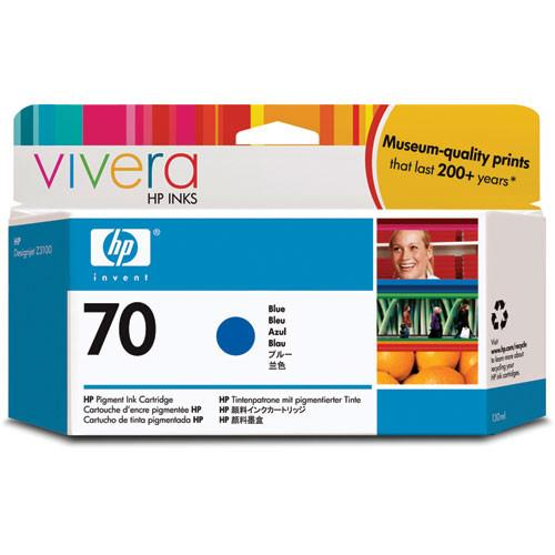 HP  70 Blue Ink Cartridge (130 ml) C9458A