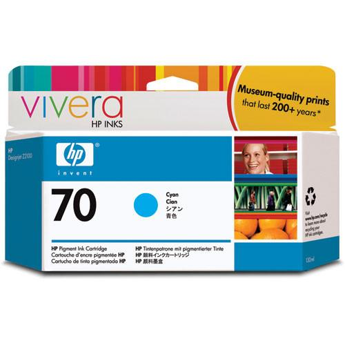 HP  70 Cyan Ink Cartridge (130 ml) C9452A