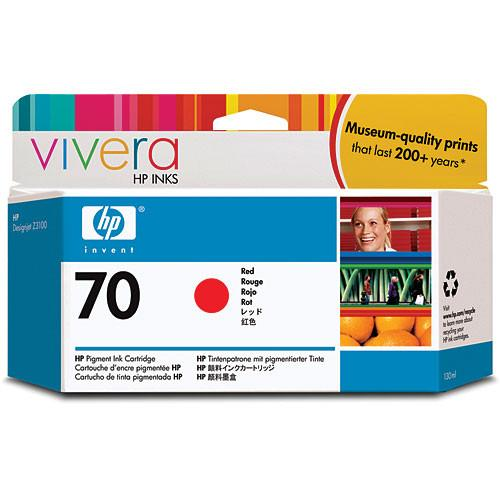 HP  70 Red Ink Cartridge (130 ml) C9456A
