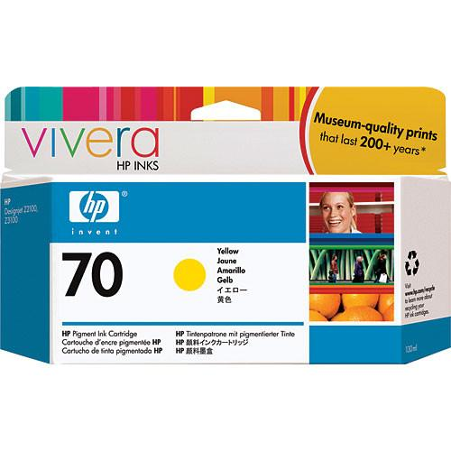 HP  70 Yellow Ink Cartridge (130 ml) C9454A