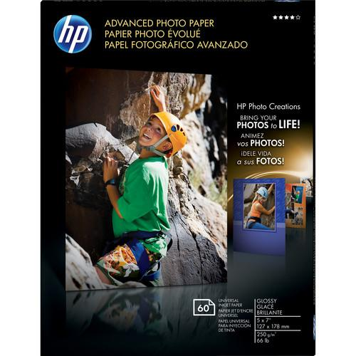 HP Advanced Photo Paper (Glossy) - 5x7