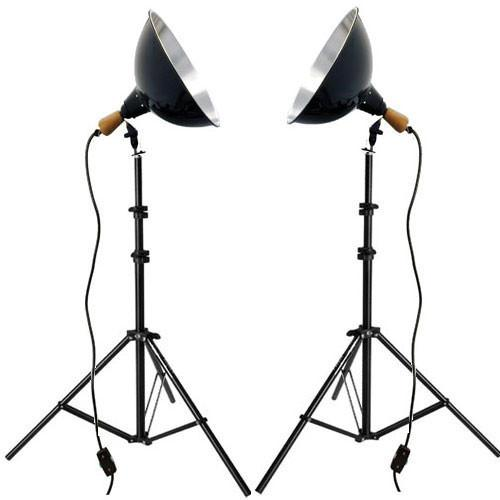 Impact Tungsten Two-Floodlight Kit with 6' Stands 401486