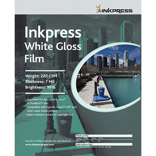 Inkpress Media White Gloss Film (24
