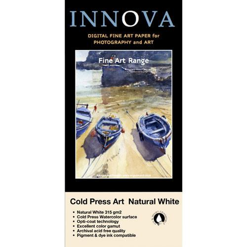Innova Cold Press Rough Textured Natural White Paper 25004