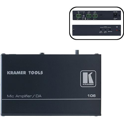 Kramer 106 1:2 Microphone Line & Distribution Amplifier 106
